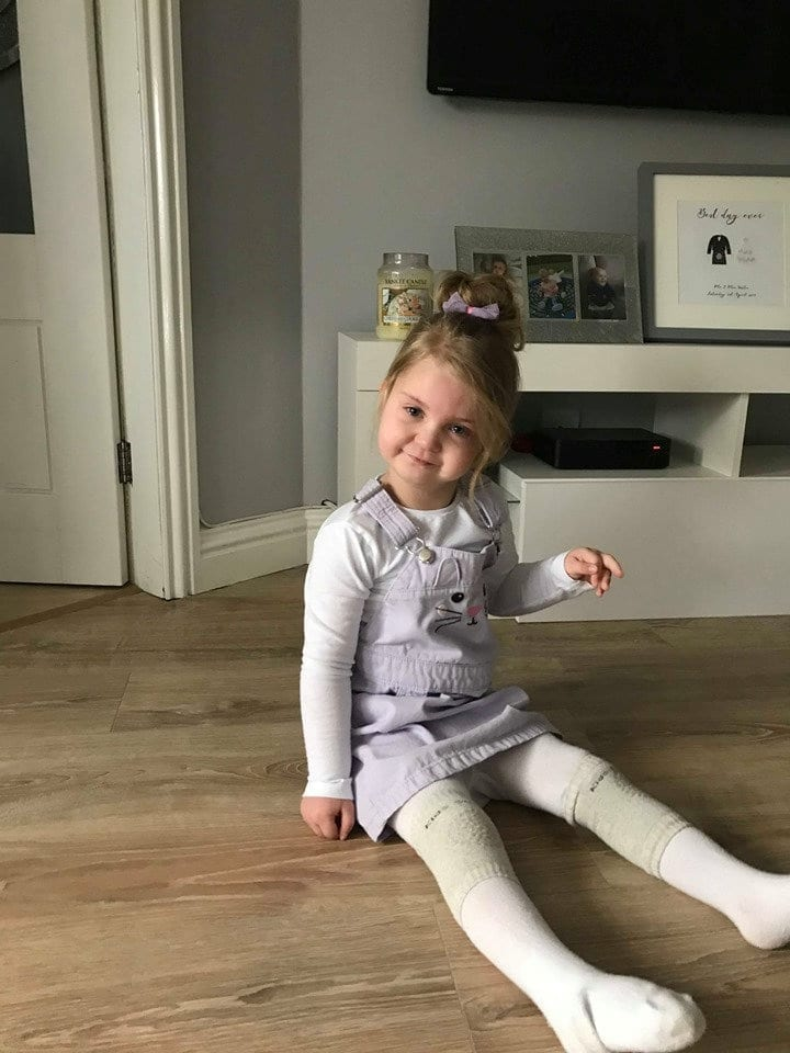 Little Girl With Genetic Disorder Which Affects Only 1,500 People Worldwide And Means She Cannot Speak Or Play With Toys Has Found Comfort With A DISCO Bathroom