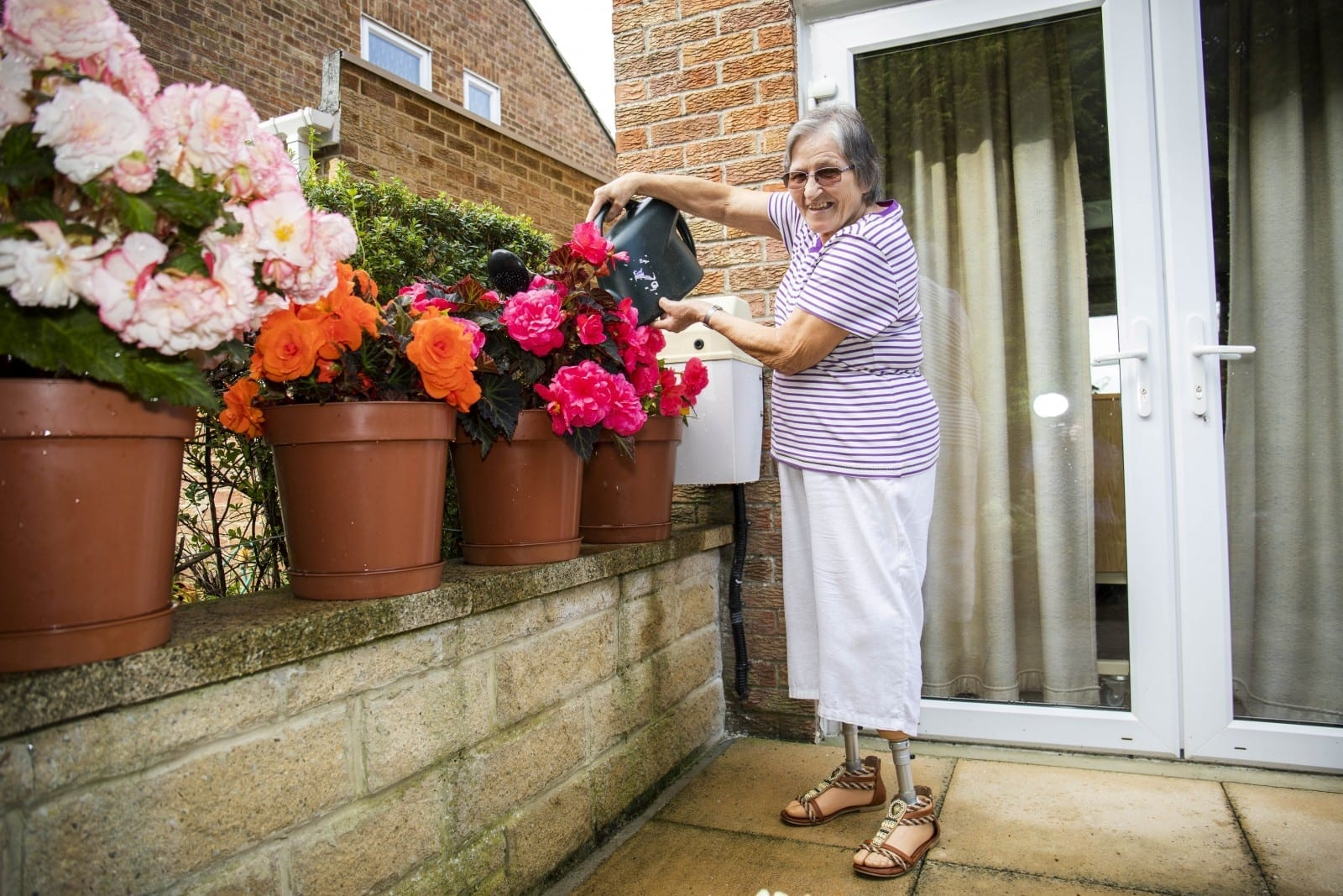 Great-Grandmother Has Both Legs Amputated And Spends Eight Months In Hospital After Getting Bitten By Insect – While Gardening