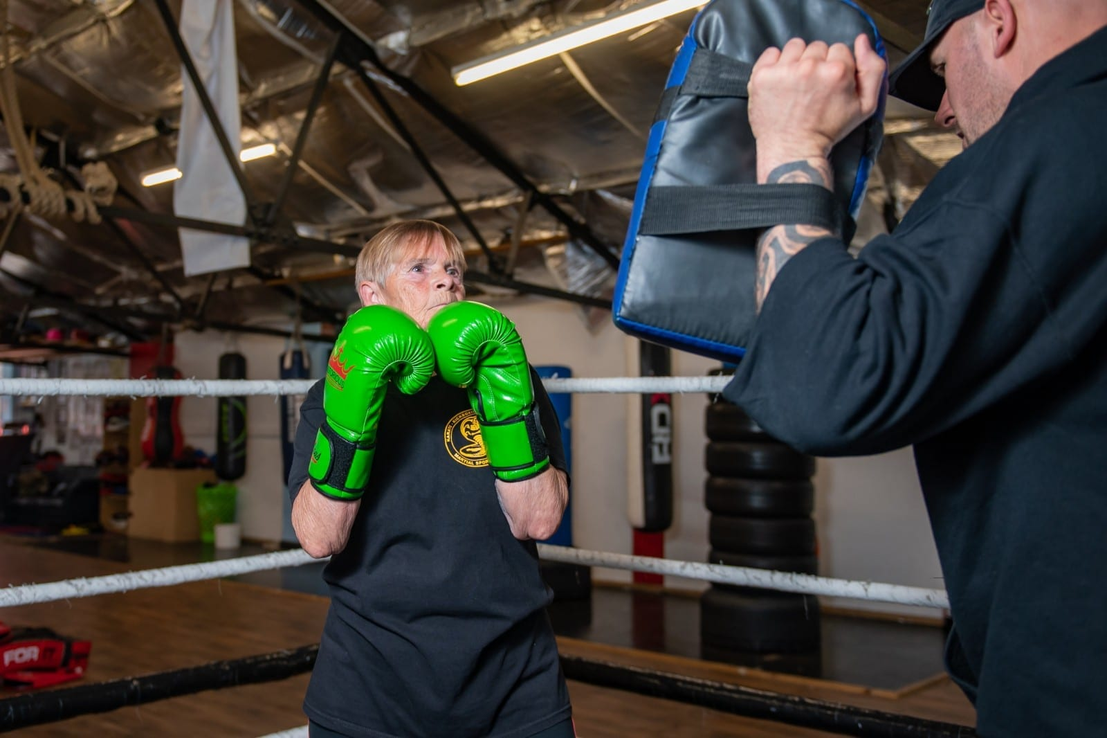 Britain's Oldest Female Kickboxer Nicknamed 'The Beast' Training For First Fight Aged 76