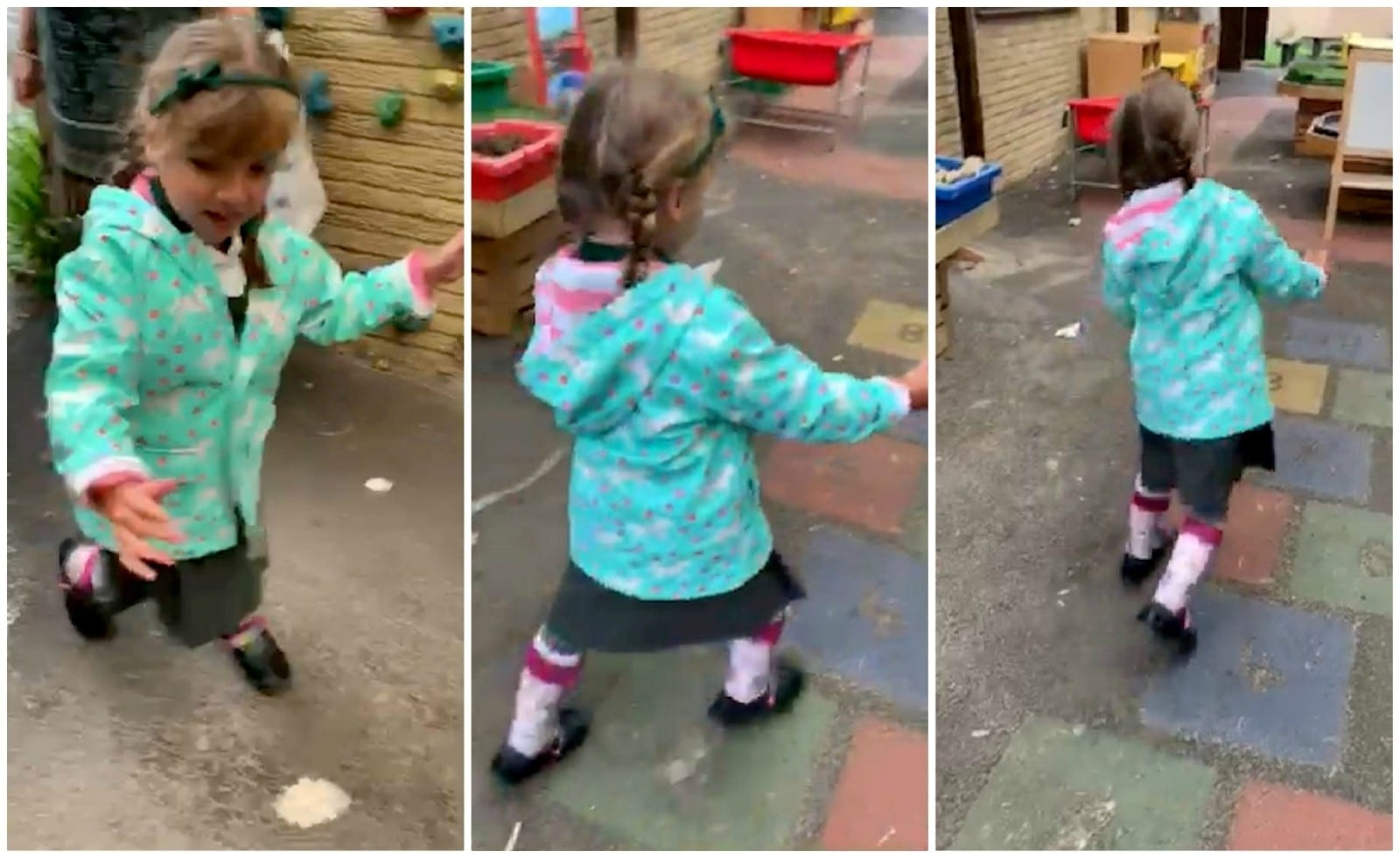 Adorable Little Girl With Cerebral Palsy Beats All The Odds – To Walk Into School Unaided On Her First Day