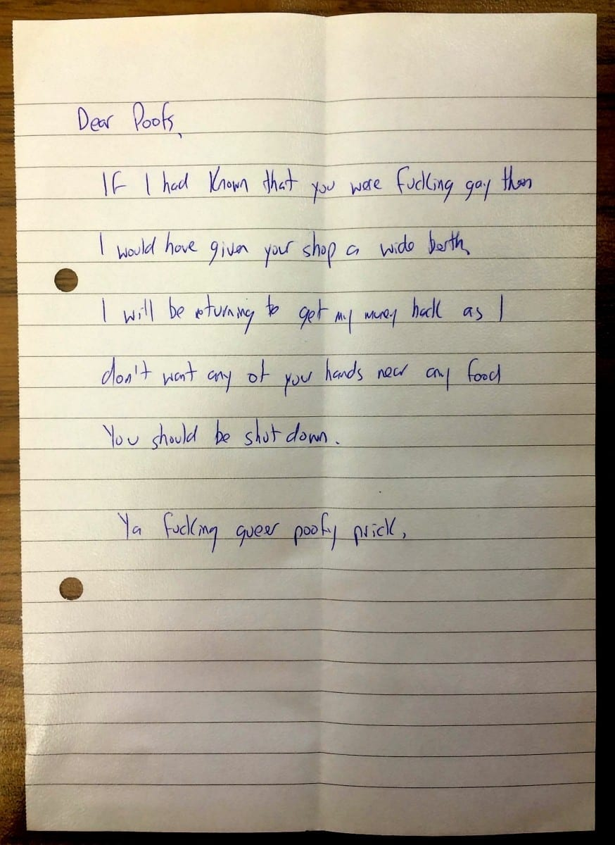 A Couple Who Run A Popular Cake Shop Were Left Horrified When They Received A Homophobic Letter