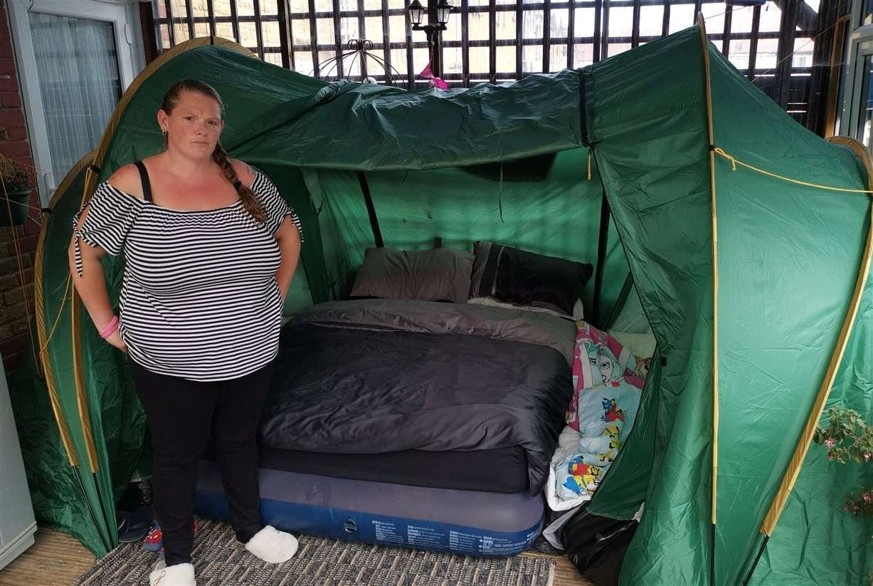 Family Of Eight 'Forced To Sleep In A Tent After Being Made Homeless'