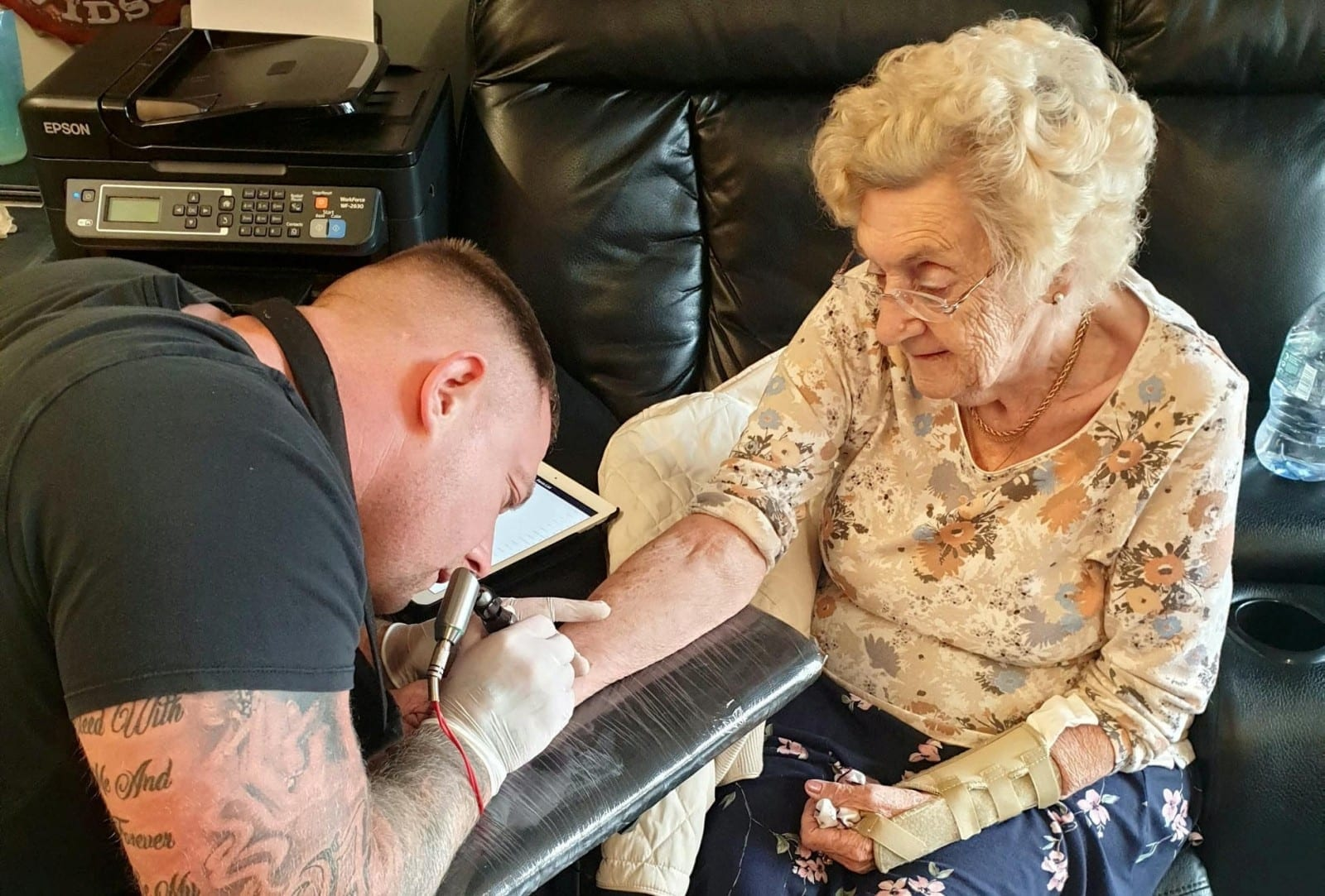 Great-Gran Believed To Be The Oldest Woman In The UK To Have A Tattoo After She got Inked Up – AGED 94