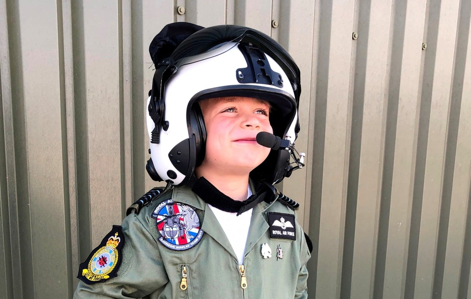 Adorable 'Plane Mad' Five Year Old Has Donned A Flight Suit And Climbed A SIX-MILE Mountain To Raise Money For Injured Pilots
