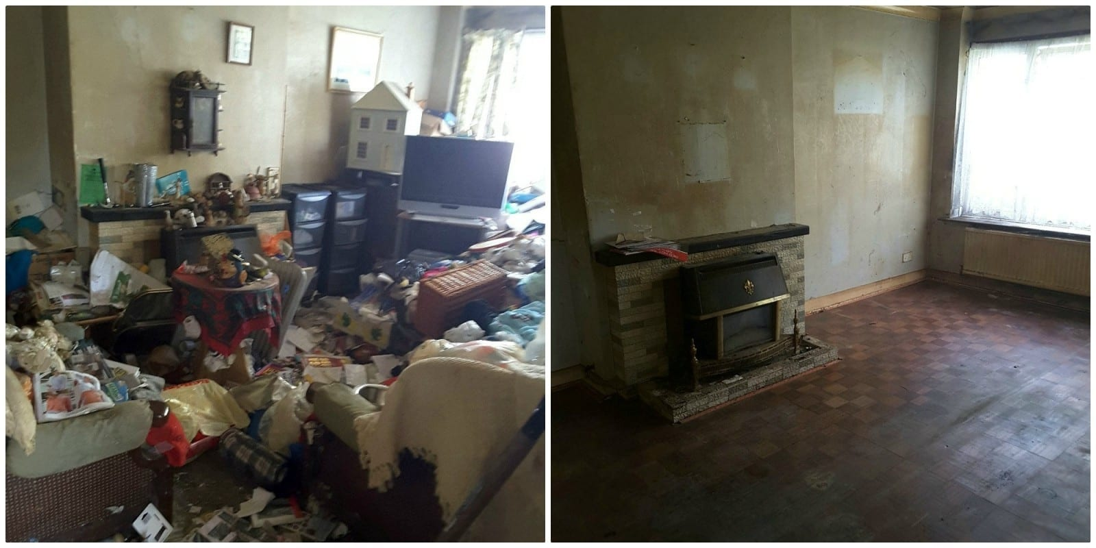 House Clearance Firm Removed 12 Tonnes Of Belongings, Rubbish And Furniture From Bungalow That Forced Elderly Occupant To Live In The Hallway – For Almost 30 Years