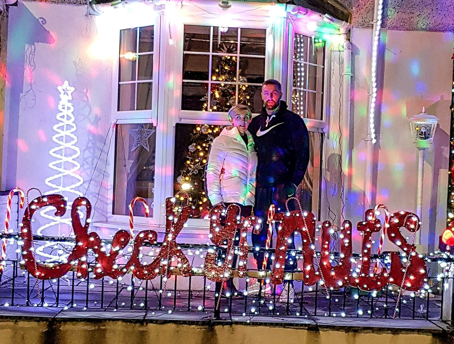 'If The Lights Can Help Just One Man Then It Has Worked' – Man Decorates Home With 'Check Your Nuts' Christmas Lights After Beating Testicular Cancer