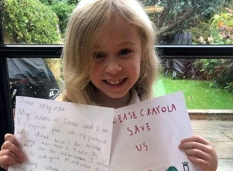 'We're Not Going To Give Up' -  Seven-Year-Old Eco-Warrior Has Gathered Almost 70,000 Signatures On Her Petition - To Force Crayola To Make Their Colouring Pens Recyclable