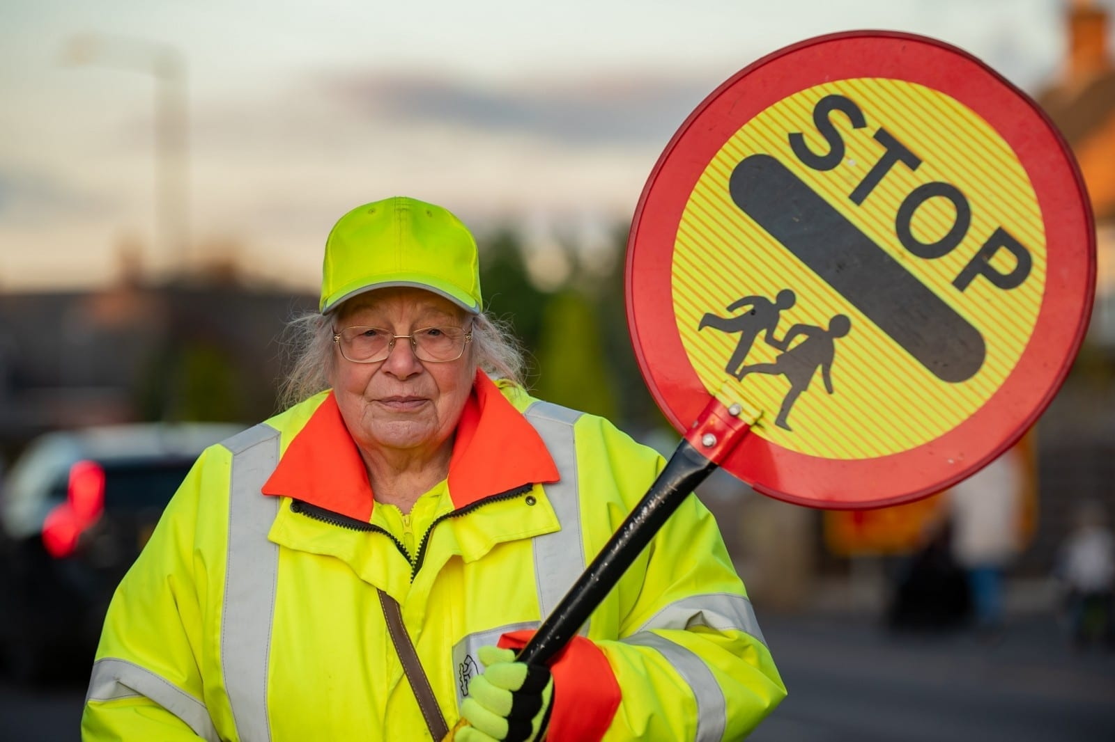 'It's The Best Job In The World!' - Britain's Longest Serving Lollipop Lady Has No Plans To Hang Up Her Stick – After 50 YEARS Patrolling The Same Stretch Of Road