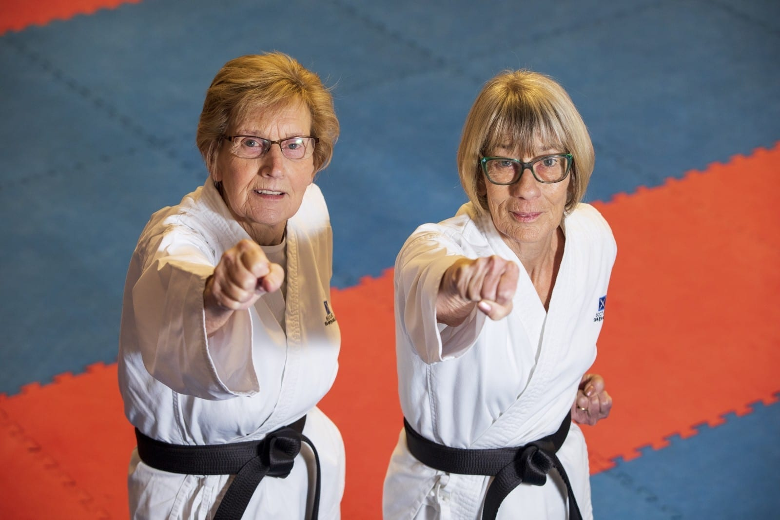 Pair Of Pensioners Have Become Two Of The Oldest People In Britain To Achieve Black Belts - In KARATE