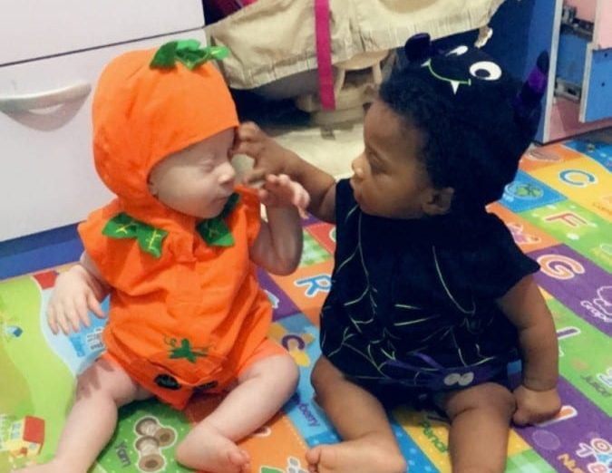 'It Felt Like We Had Been Given A Miracle' – Mum Of One Black & One Black Albino Twin Admits Strangers Ask If Both Children Are Hers