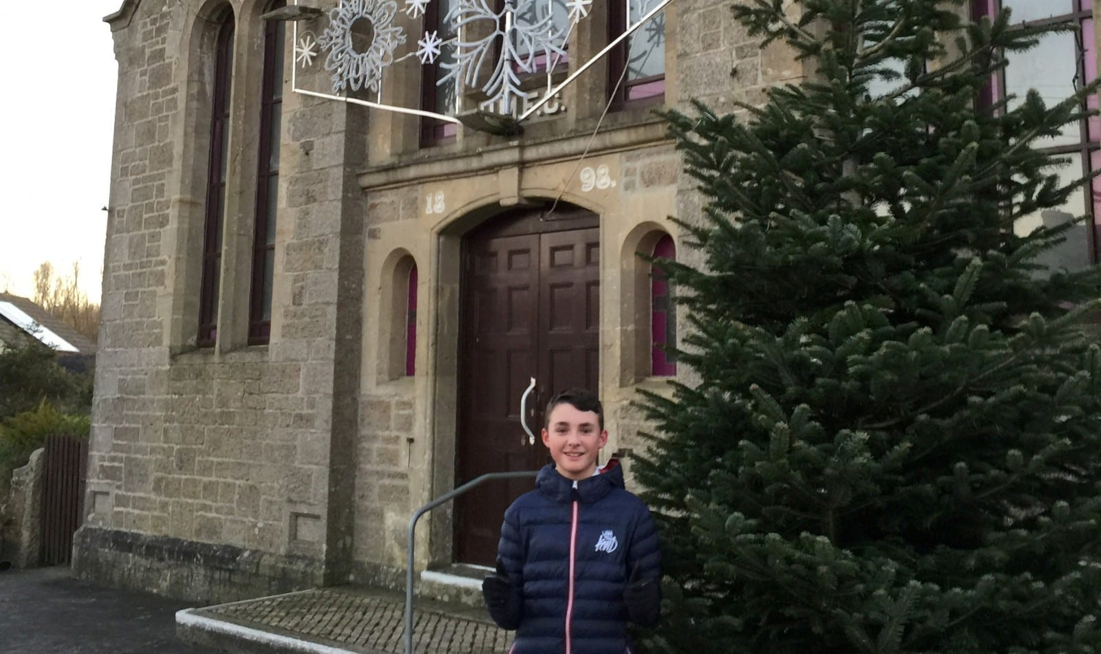 'I Wanted Our Village To Stand Out' – Cash-Strapped Village Which Couldn't Afford Christmas Decorations Gets Massive Tree And Lights – Thanks To Fundraising By Local 13-Year-Old