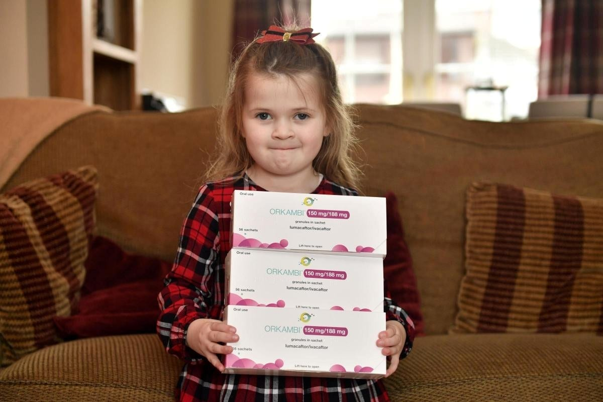 'What Better Gift Than The Gift Of Your Daughter Living A Healthier, Longer Life?' – Four-Year-Old Cystic Fibrosis Sufferer Received 'Wonder Drug' For Christmas