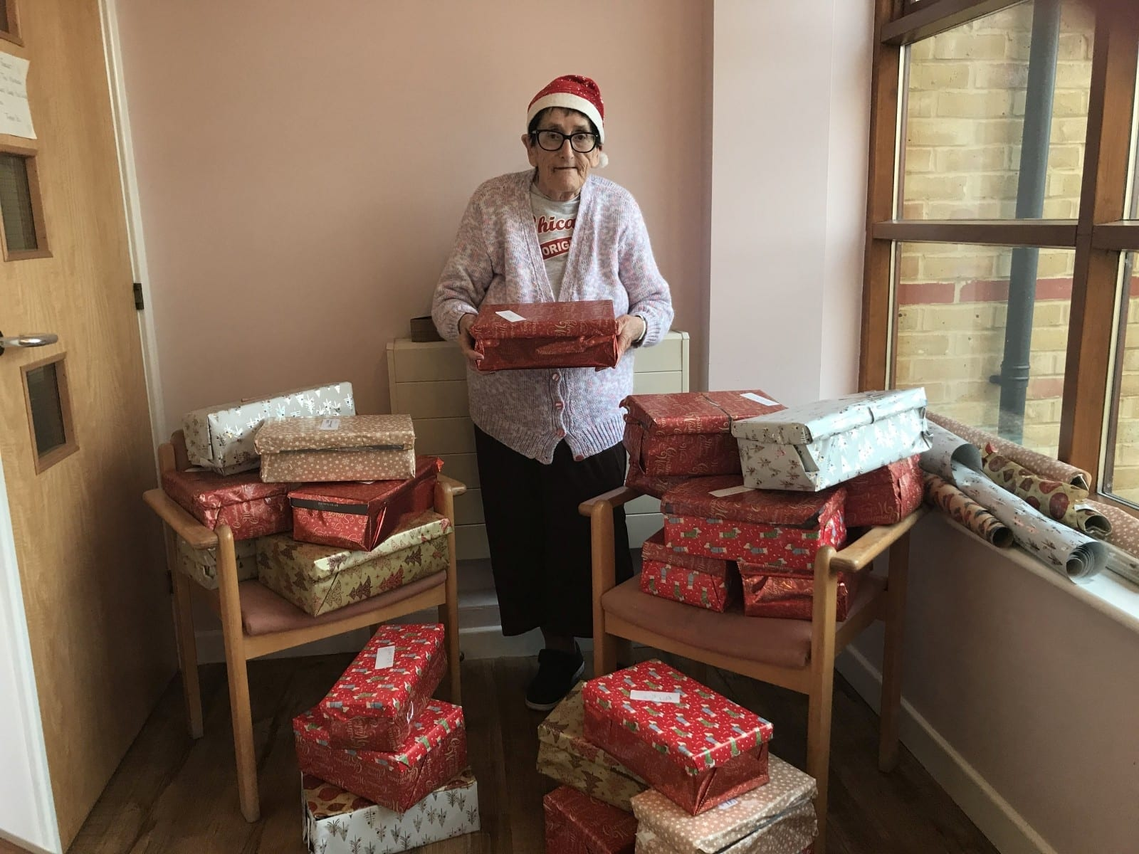 MOTHER CHRISTMAS - Grandmother Dubbed 'Real-Life Santa' - Because She Spends All Year Preparing More Than 500 Shoeboxes Full Of Presents For Those In Need
