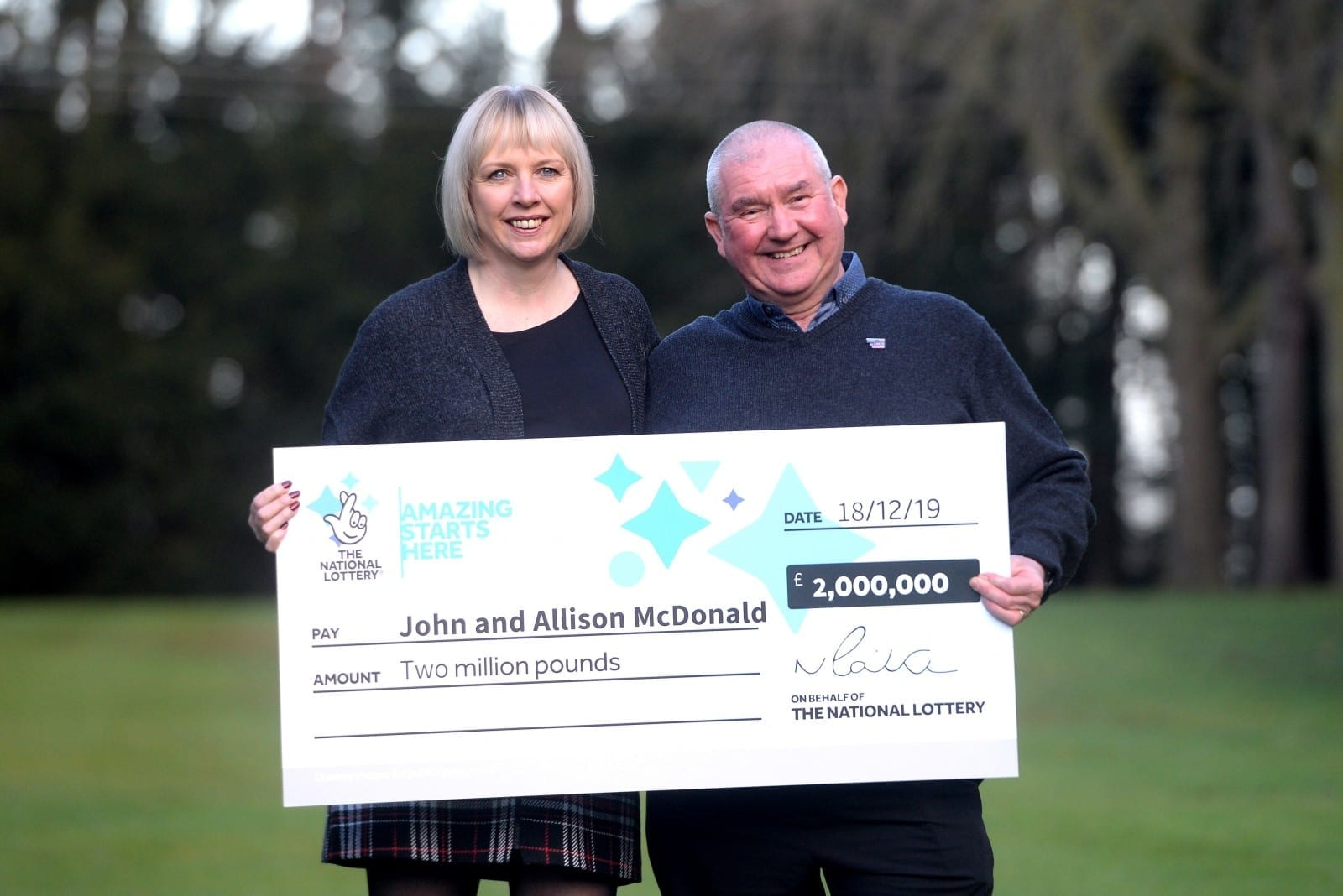 'All Of Our Lifelong Dreams Came True' – Winners Of £2m Lotto Jackpot Say The Real Celebrations Began When Their 15-Year-Old Son Was Declared Cancer-Free – Just Three Days Later