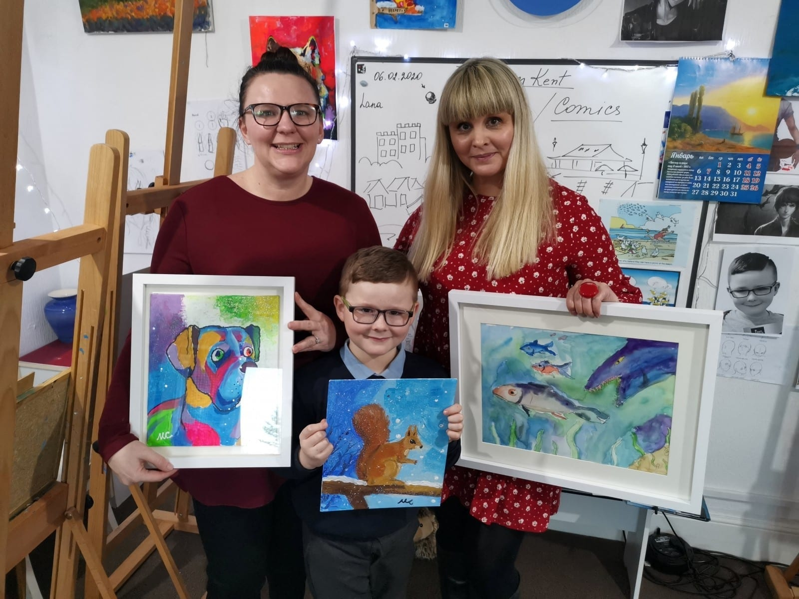 'They Call Me Van Gogh' – Seven-Year-Old Art Prodigy Is Selling His Paintings To Raise Money For A Boy Suffering From A Rare Genetic Condition