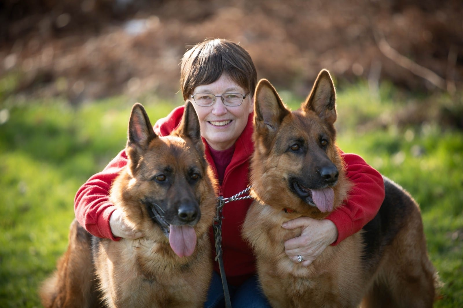 'My Dogs Saved My Life' - Dog Lover Owes Her Life To Her Two German Shepherds - After They Detected Breast CANCER
