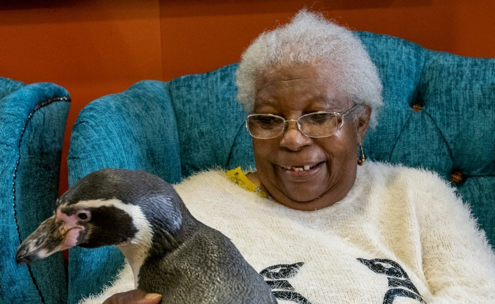 Dream Come True For 85-Year-Old As Penguins Pay Her Surprise Visit
