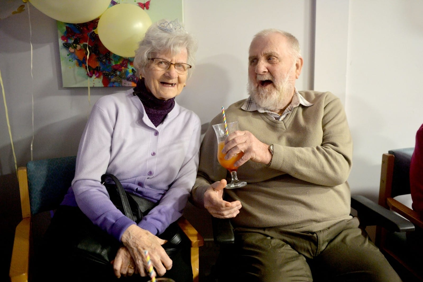 Fun Loving OAPs Downed Cocktails At A Disco – In A CARE HOME