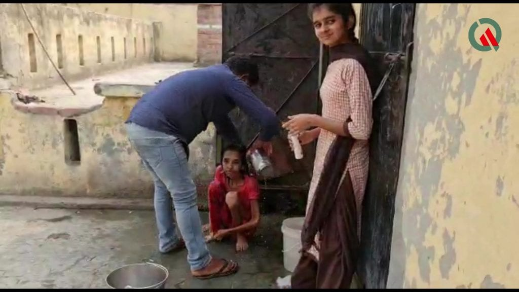 Police rescued wife who had been locked in the toilet by