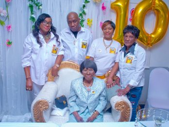 Great-Great-Great Grandmother Celebrates Her Landmark 100th Birthday At Surprise Party - With Six Generations Of Her Family