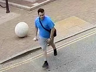 'I've Got Acid!' - Yob Caught On CCTV Squirting Cleaning Fluid In Drinker's Face Outside Pub