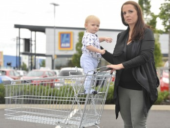 'Accident Waiting To Happen' : Aldi Agree To Fit Safety Straps To Its Trolleys After Crusading Mum Wins Campaign