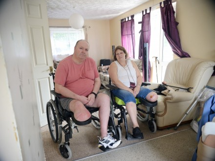 Britain's unluckiest couple forced to cancel their wedding after BOTH losing a LEG within days of each other