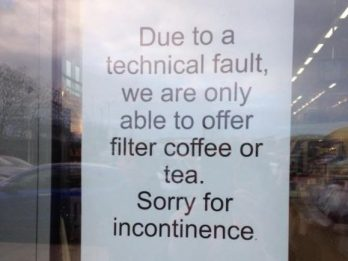 Not Just Any Fail: M&S Put Up Sign Apologising For Causing INCONTINENCE
