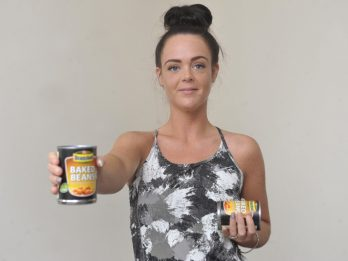 Inspirational Mum Lost Half Her Body Weight After Working Out Using Cans Of Baked Beans Instead Of Weights