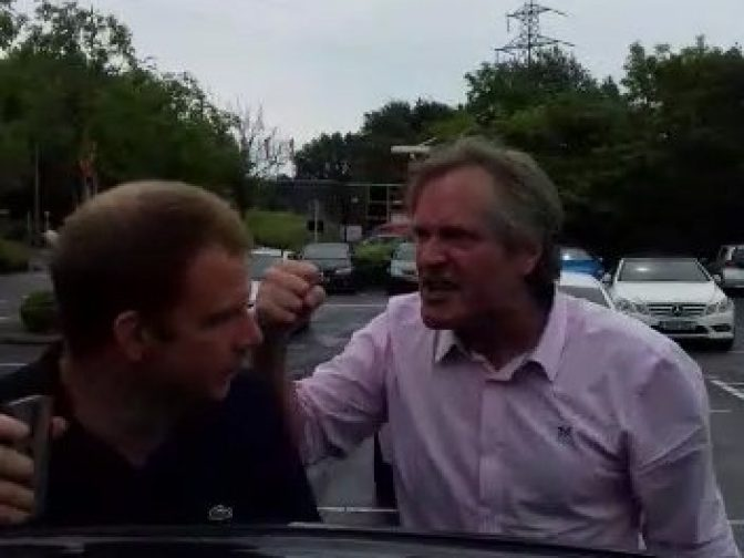 WATCH – BBC Producer Fergus Beeley Yelling Abuse During Road Rage Incident