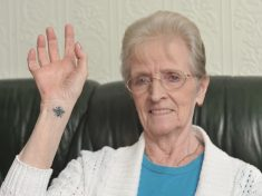 Pensioner Is One Of The Oldest In The UK To Get Manchester Bee Tattoo With First Ever Inking In Tribute To Victims
