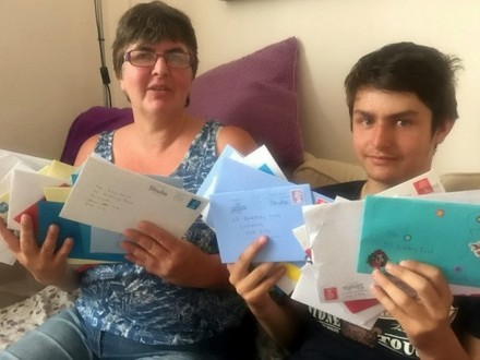 Autistic boy with no friends has thousands of birthday cards sent to him after mum posts appeal online