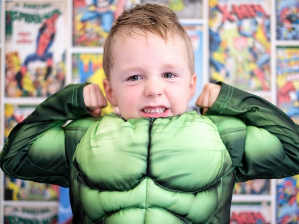 Toddler saved mum by lifting a double bed while wearing Incredible Hulk pyjamas