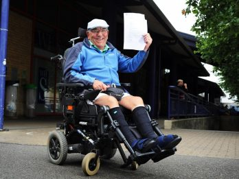 Disabled Pensioner Handed £800 First Class Train Tickets Because His Wheelchair Won't Fit On National Express Coaches