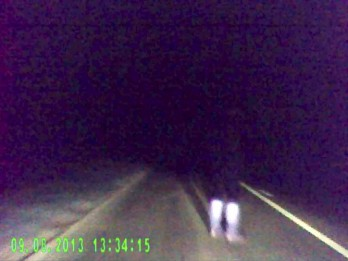 Lucky Escape : Shocking Moment Car Runs Into Drunk Man Down Dark Country Road
