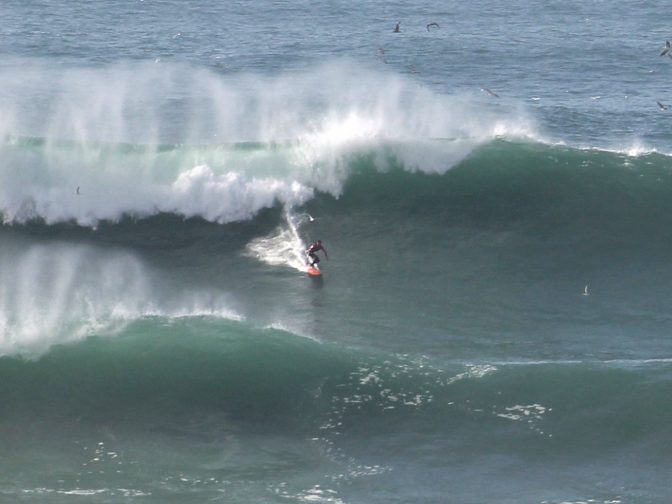 Professional Surfer Takes To The Waves To Ride UK's Biggest Swell – Just Months After Being Seriously Injured In Wipeout