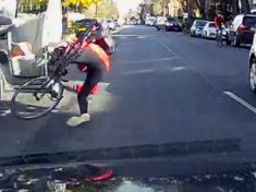 WATCH – Cyclist's Miracle Escape After He Is 'Doored' By Van Driver