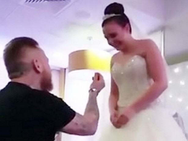 Couple To Tie The Knot After Romantic Boyfriend Proposes To Partner While She Was Modelling - A WEDDING DRESS