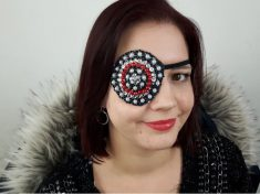 Mum Who Lost Her Eye To Cancer Makes Custom Eyepatches – Covered In Jewels
