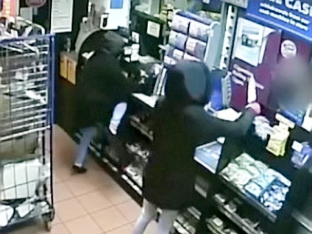 Shocking CCTV Shows Women Robbers Raiding Post Office With Meat Cleavers