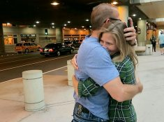 Adopted Woman Hugs Her Biological Dad… Who Never Knew She Existed
