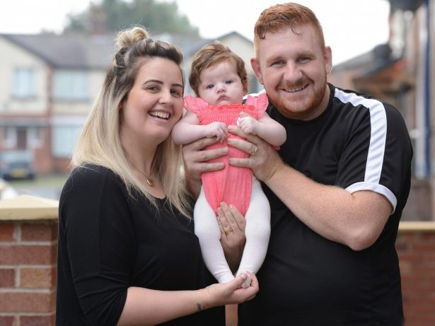 Proud Parents Show Off Gorgeous 12-Week-Old Baby Born With Mop Of Thick Hair