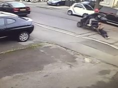 WATCH – Brave Woman DRAGGED Down Road By Moped Thieves