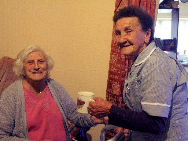 Veteran carer still cycles door to door to look after patients - despite being 84