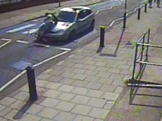 HIT AND RUN – CCTV Shows Hit And Run Driver Ploughing Into Scooter Rider Before Reversing Away