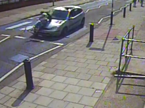 HIT AND RUN - CCTV Shows Hit And Run Driver Ploughing Into Scooter Rider Before Reversing Away