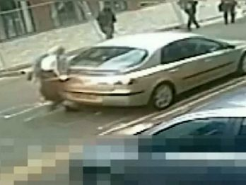 Shocking CCTV Shows Hit-And-Run Driver Reverse Over Woman Before Speeding Off