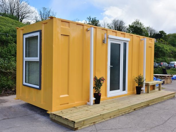 Shipping Container Converted To Luxury Home For Rough Sleepers