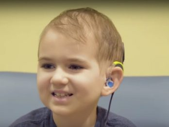 Schoolboy Who Beat Cancer Twice But Went Deaf In The Process Hears For First Time In Seven Years