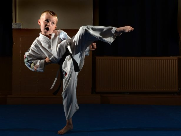 Real Life Karate Kid Becomes Youngest Black Belt In Britain - Aged Seven
